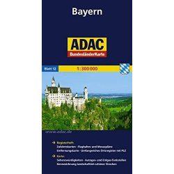Bajorország térkép ADAC 1:300 000