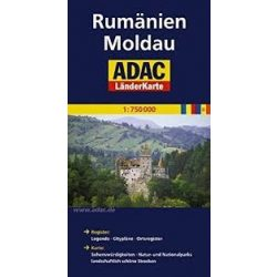 Románia térkép ADAC 1:750 000  2013
