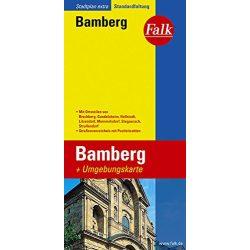 Bamberg térkép Falk 1:15 000
