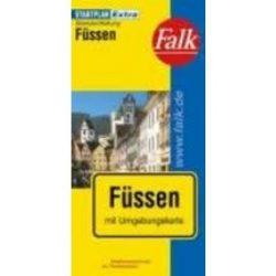 Füssen térkép Falk  1:20 000