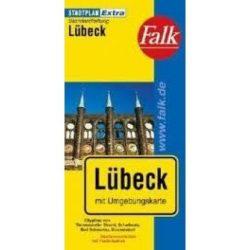 Lübeck térkép Falk  1:20 000