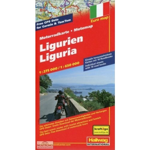 Liguria térkép Hallwag  1:250 000