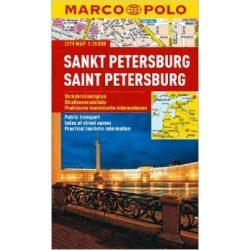 Szentpétervár térkép vízálló Marco Polo  1:15 000
