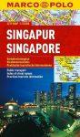 Singapore Szingapur térkép Marco Polo 1:15 000
