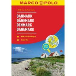 Dánia térkép, Dánia atlasz Marco Polo 1:200 000  2017