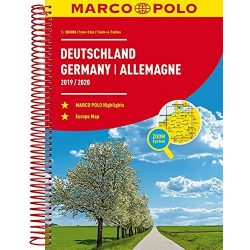 Németország atlasz Marco Polo 2019/20 1:300 000