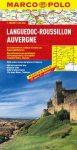 Languedoc-Roussillon térkép, Auvergne térkép Marco Polo 1:300 000  2015
