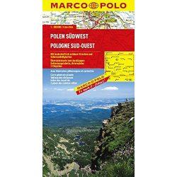 Lengyelország térkép, Lengyelország dél-nyugat Marco Polo  1:300 000
