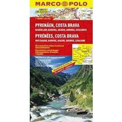 Pireneusok térkép 1:300 000 Marco Polo 2014 Pyrenees térkép, Costa Brava