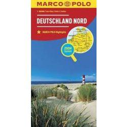 Észak-Németország térkép Marco Polo 2018 1:500 000