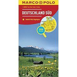 Dél-Németország térkép Marco Polo 2016 1:500 000