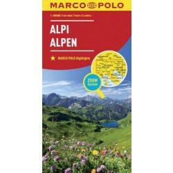 Alpok térkép Marco Polo 2016 1:800 000