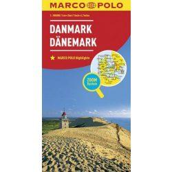 Dánia térkép Marco Polo 2016 1:300 000