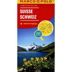 Svájc térkép Marco Polo  1:303 000