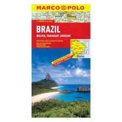 Brazília térkép Marco Polo 2016 1:4 000 000 Brazília, Bolívia, Paraguay, Uruguay térkép