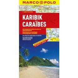 Karib szigetek térkép, Mexico térkép Marco Polo 1:2 500 000  2012 Mexikó térkép