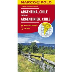 Argentina térkép, Argentina, Chile térkép Marco Polo 2017  1:4 000 000