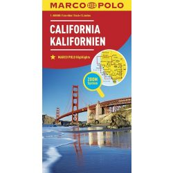California, Kalifornia térkép Marco Polo 2016 1:800 000
