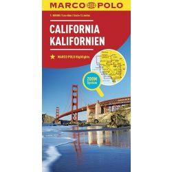 California, Kalifornia térkép Marco Polo 2017 1:800 000