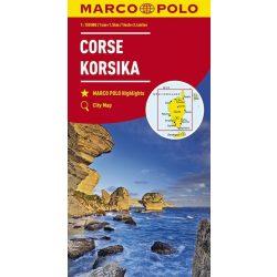 Korzika térkép Marco Polo 1:150 000  Corse terkep