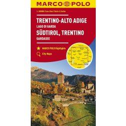Trentino térkép Dél-Tirol térkép 1:200 000 Garda-tó térkép