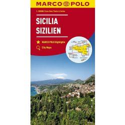 Szicília térkép Marco Polo 1:200 000  2017