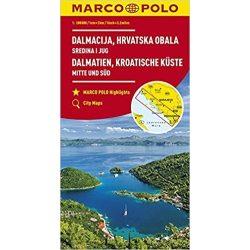 Dalmácia térkép Marco Polo 1:200 000, Horvát tengerpart térkép