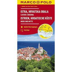 Isztria térkép, Horvát tengerpart térkép, Istrien, Kroatische Küste Marco Polo 2018 1:200 000