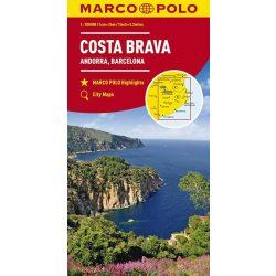 Costa Brava térkép Marco Polo 2017 1:200 000