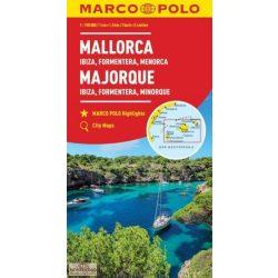 Mallorca térkép Marco Polo 1:150 000 Ibiza térkép