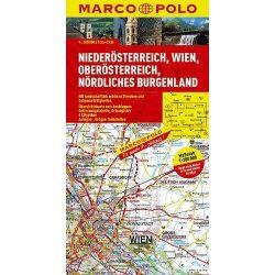Burgenland térkép Felső Ausztria, Alsó Ausztria térkép Marco Polo
