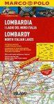 Lombardia térkép Marco Polo 1/200,000 2015