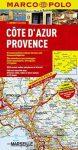 Côte d'Azur térkép, Provence térkép Marco Polo 2015 1:200 000