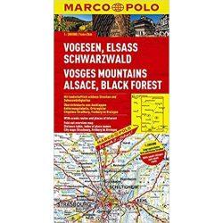 Fekete-erdő térkép Marco Polo 2016 1:200 000 Schwarzwald térkép
