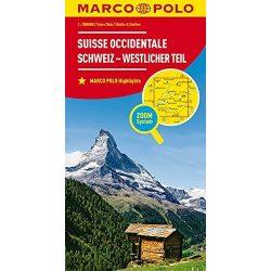 Svájc térkép Marco Polo Svájc középső és nyugati része  1:200 000