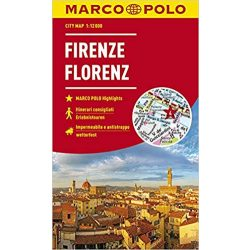 Firenze térkép Marco Polo 1:10 000 Firenze várostérkép vízálló