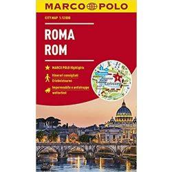 Róma térkép Marco Polo vízálló 2018 1:12 000 Róma várostérkép