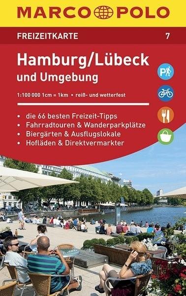 lübeck térkép 7. Hamburg, Lübeck und umgebung Marco Polo turista térkép 1 : 100