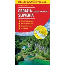 Szlovénia, Horvátország térkép Marco Polo  Horvátország középső és tengerparti része 1:300 000
