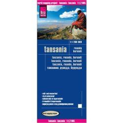 Tanzánia térkép Reise  1:1 200 000  Ruanda térkép, Burundi térkép