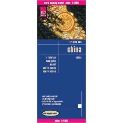 Kína térkép Reise 1:4 000 000