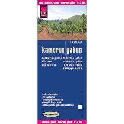 Kamerun térkép Reise, Gabun térkép 1:1 300 000