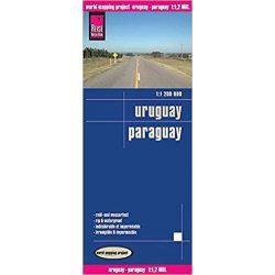 Uruguay térkép, Paraguay térkép Reise  1:600 000