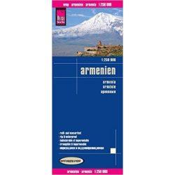 Örményország Reise térkép 1: 250 000  Armenien map 2018