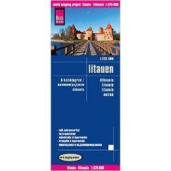 Litvánia térkép Reise 1:325 000