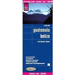 Guatemala, Belize térkép Reise 2014 1:500 000