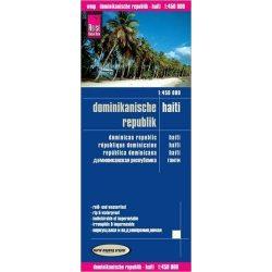 Dominikai Köztársaság térkép Haiti térkép Reise  1:450 000