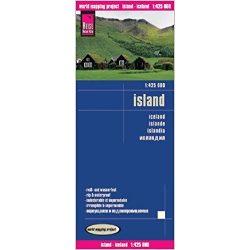 Izland térkép, Iceland térkép Reise 2017  1:425 000