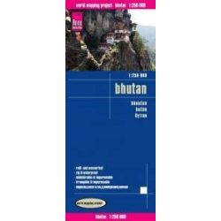 Bhutan térkép Reise 2016 1:250 000