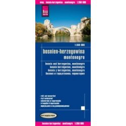 Bosznia térkép Montenegro térkép Reise 1: 350 000